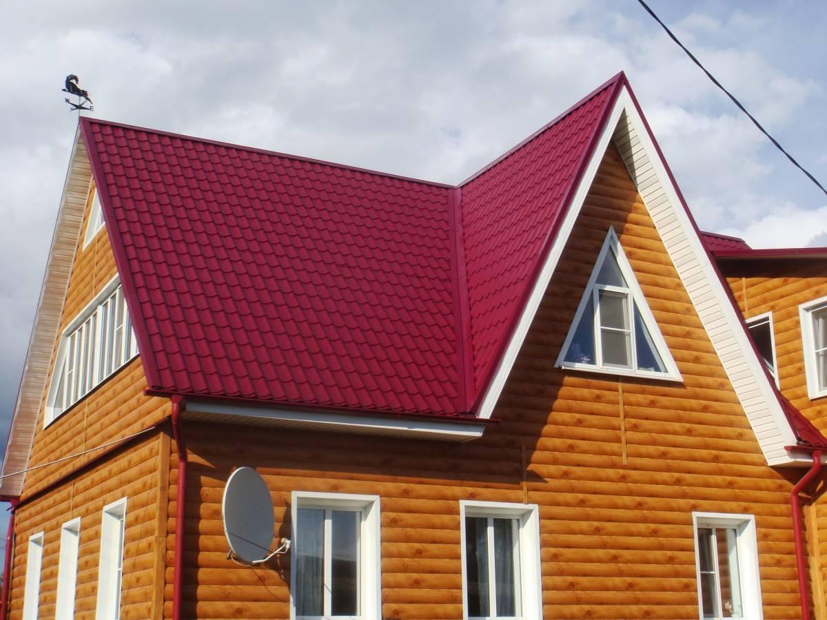 сайдинг под красную крышу фото